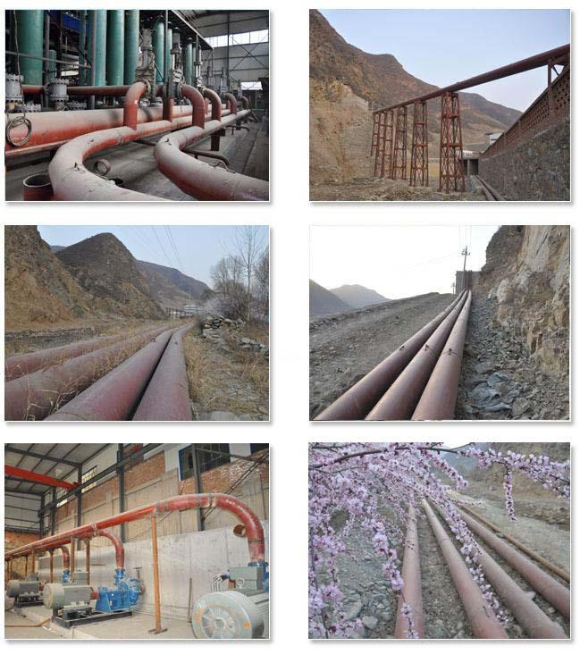 陶瓷耐磨管工程案例:山西代县白屿里矿冶公司2#选厂